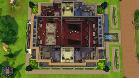 Mansion Floorplan mod the sims petit trianon palace a royal romance no cc