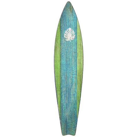 Wooden Surfboards For Decoration by Surfboard Wall Green D 233 Cor Shop