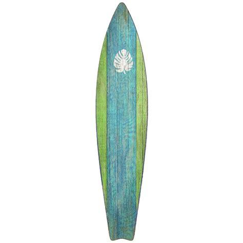 Surfboard Wall Decor surfboard wall green
