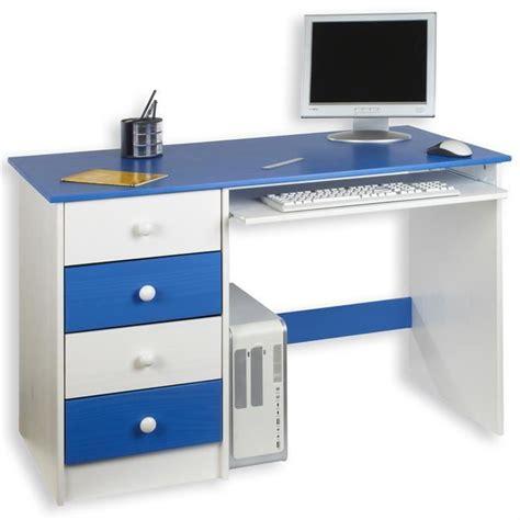 le bureau enfant bureau enfant 4 tiroirs lasur 233 blanc bleu achat vente