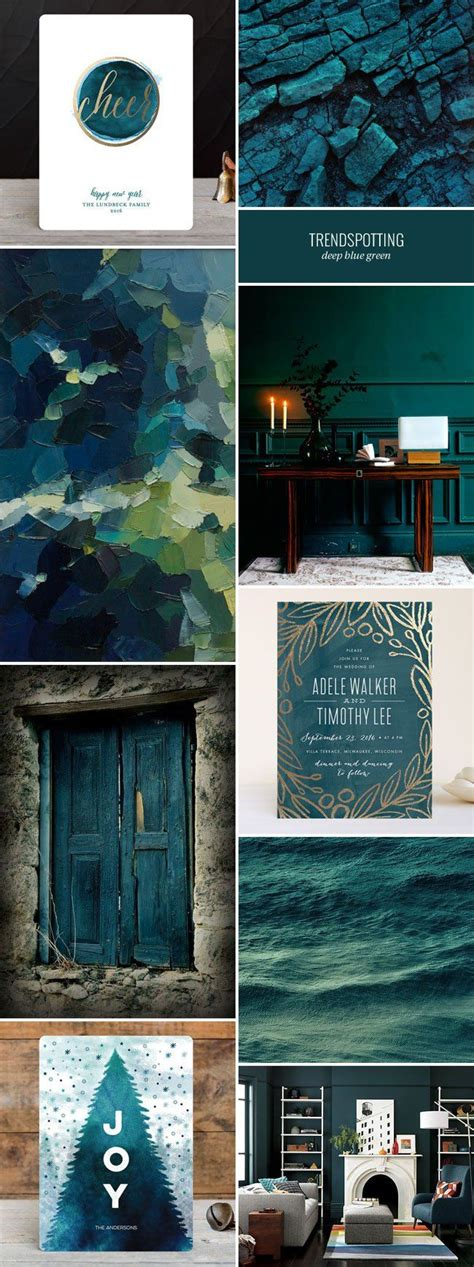 accent wall colours 2016 2016 stationery color trends deep blue green mixed