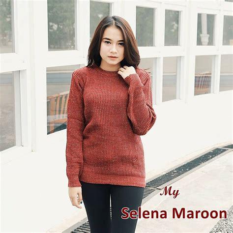 Sweater Sweater Rajut Baju Rajut Pakaian Wanita Rajutan grosir baju rajut selena sweater rajut grosir baju