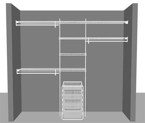 reach in closet wire shelving and declutter on