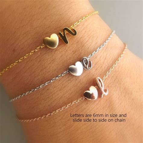 Wedding Gift Jewelry by Initial And Gold Gold Or Silver Bracelet