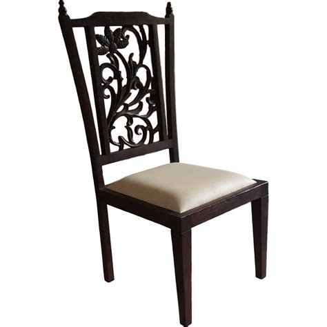 Teak Wood Dining Chairs Buy Teak Wood Carved Back Dining Chair From Usa Zifiti Page