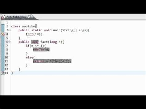 java tutorial on youtube java tutorial 12 recursive programming youtube