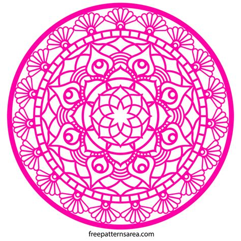 printable circle mandala silhouette vector design