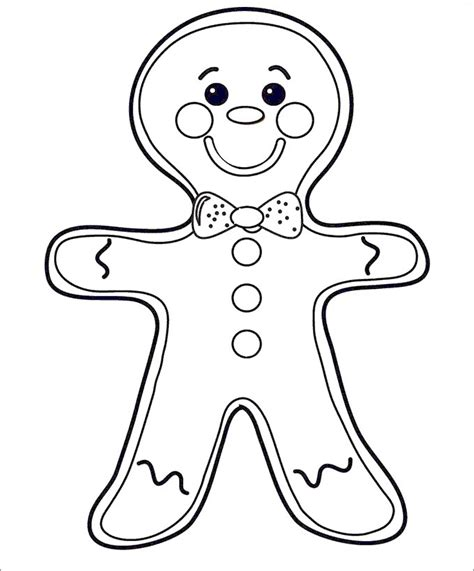 template of gingerbread 15 gingerbread templates colouring pages free premium templates