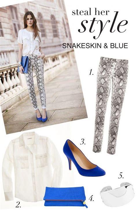steal  style snakeskin colbalt blue glitter guide