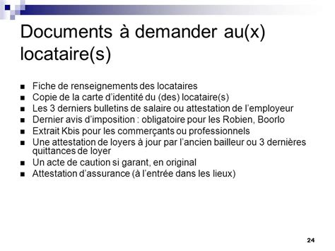 Documents à Demander Au Locataire 886 by Location Vide 224 Usage D Habitation Ppt T 233 L 233 Charger