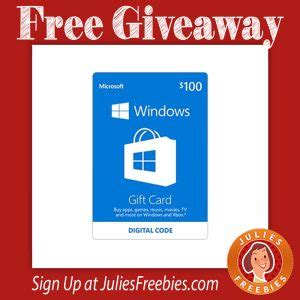 List Of Store Gift Cards - win a 100 windows store gift card freebies list freebies by mail free sles
