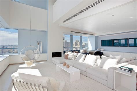 white interiors homes stylish san francisco ritz carlton penthouse could be