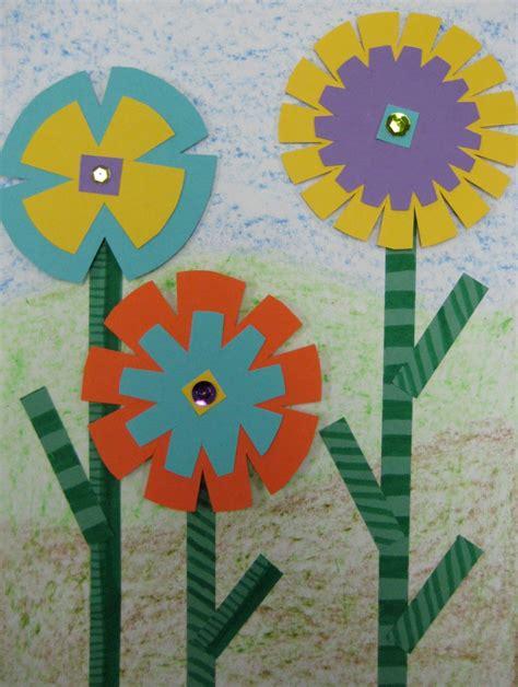 quot 3d quot flower collage teachkidsart