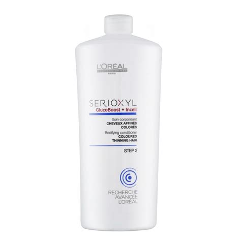 Conditioner Loreal l oreal professionnel serioxyl 2 bodifying conditioner for coloured thinning hair 1000ml free