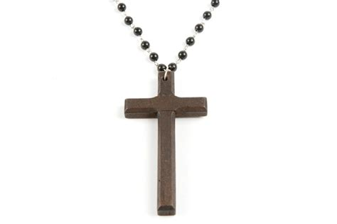 rosary bead cross necklace crucifix god religion jewellery
