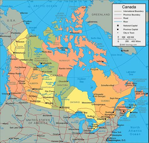 map of usa and canada images test