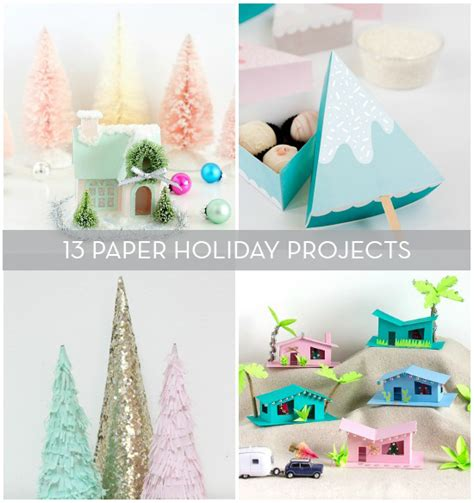 Diy Crafts With Paper - 13 diy paper projects to make for the holidays curbly