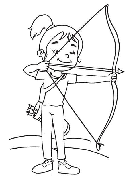 girl bow coloring page cute girl archer coloring page download free cute girl