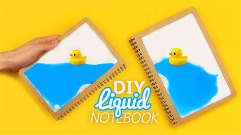 d i y diy liquid notebook tutorial youtube