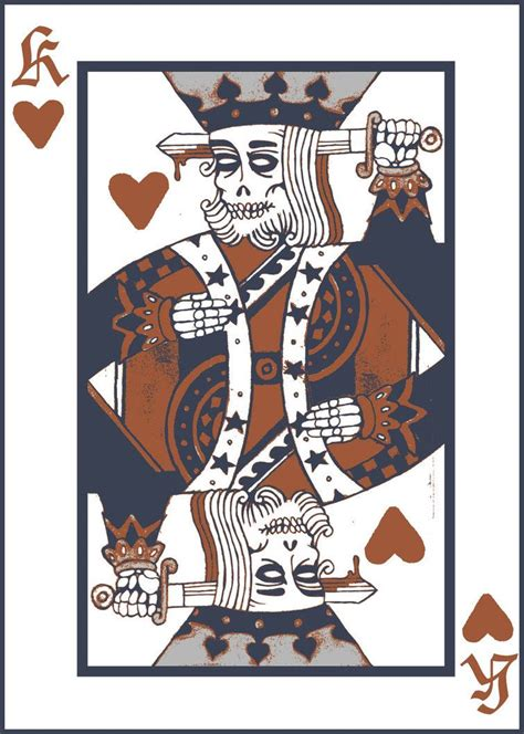 deck of cards tattoo king by disembowelertron out of the past