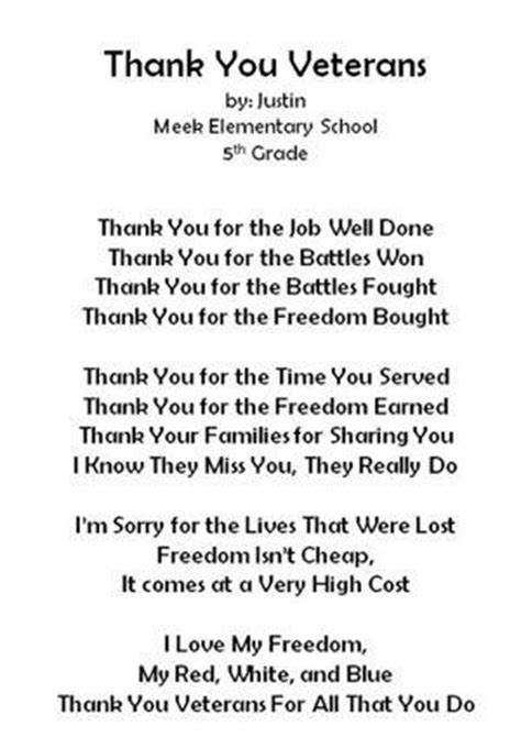 thank you card template for members of armed services 1000 veterans day quotes on memorial day