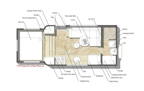 tiny house trailer floor plans custom truck rv modern motorhome living or a tiny house