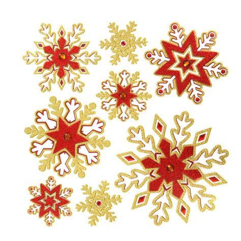 removable christmas wall stickers glitter snowflake vinyl