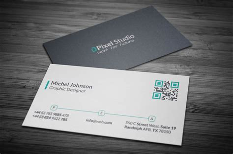 business card template with photo modern corporate business card template inspiration