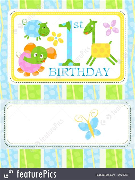 1st birthday card template illustration of birthday card