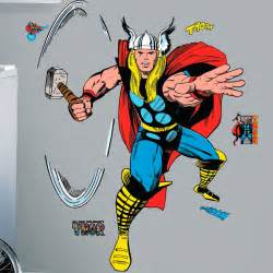 Thor comic book giant stickers great kidsbedrooms the children
