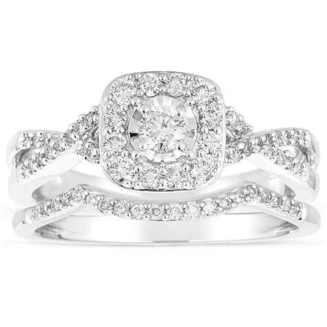 infinity 1 carat wedding ring set in white