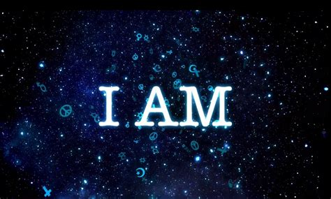 I Am merging the personal feeling i am with the infinite i