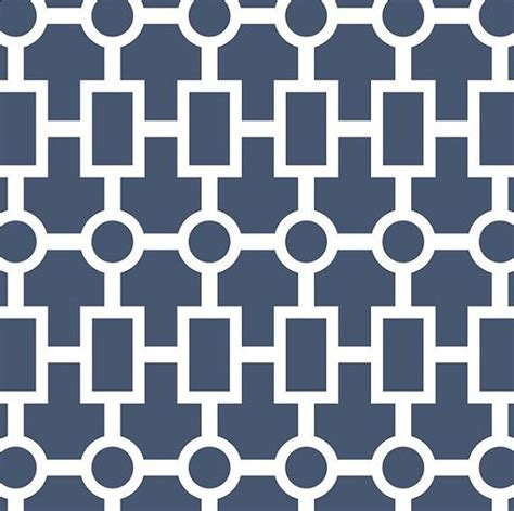 Demand Pattern In French | geometric chain crib sheet in navy print on demand