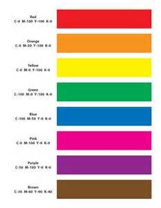 colors in list 5 best images of printable primary color chart primary