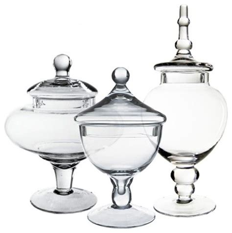 cys glass apothecary candy buffet jars set of 3