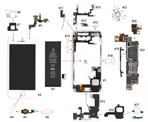 Sparepart Iphone 5 iphone 5 parts diagram vkrepair