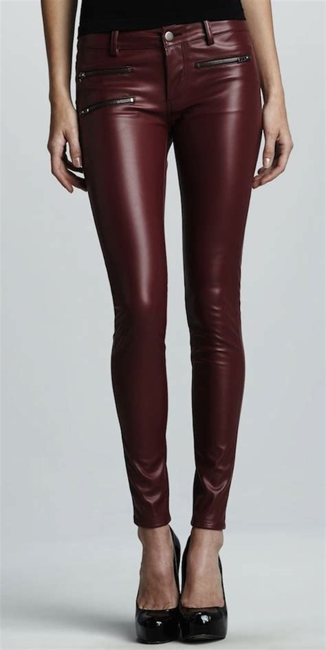 Kylie Jenner Wears Parker Faux Leather Pants and Christian Louboutin Ankle Strap Pumps   UpscaleHype