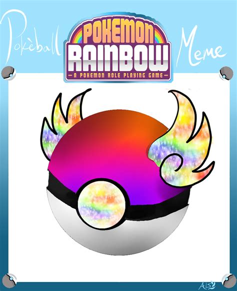 Pokeball Meme - pokemo rainbow pokeball meme rainbow wings by yoshicafe