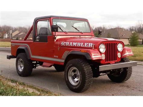 jeep scrambler for sale 1985 jeep cj8 scrambler for sale classiccars com cc 926395