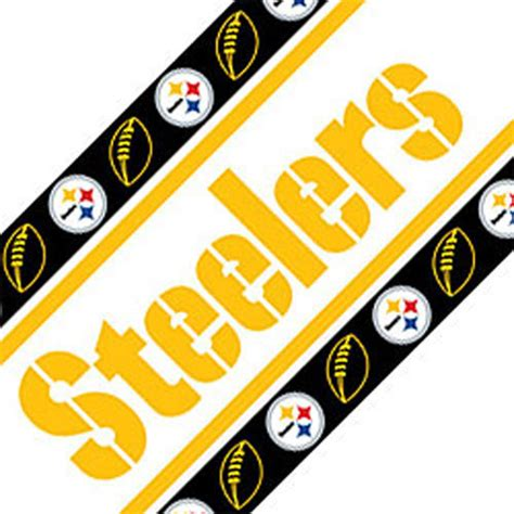 War Rugs For Sale Nfl Pittsburgh Steelers Football Peel Stick Wall Border
