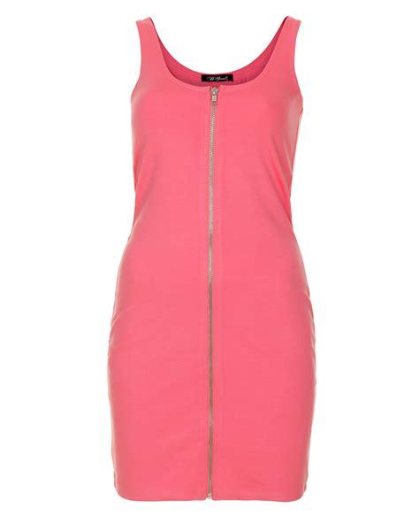 blue inc womens brave soul con zip dress pink new ebay