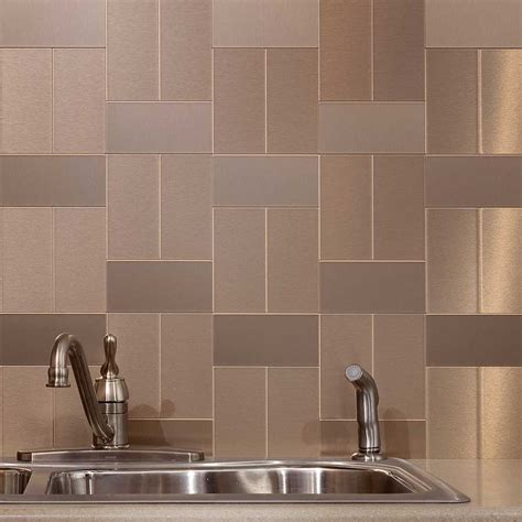 Metal Tiles For Kitchen Backsplash Popular Metal Tile Backsplash The Homy Design