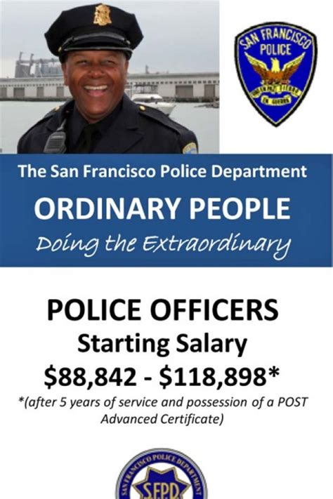 Starting Salary For A Officer by Recruitment Ad Sfpd Officer Starting Salary In 2012 Is