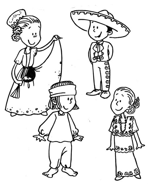 mexican traditional dress coloring pages recursos