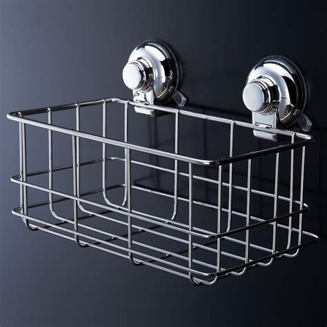 bathroom shelves stainless steel stainless steel strong suction shower basket dual sucker
