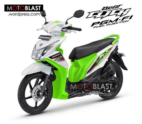Modif Stiker Honda Beat Fi Click Green inikah penakan honda beat fi click 2014 motoblast