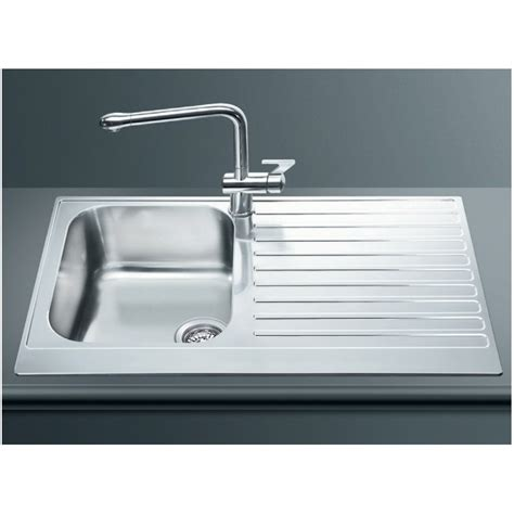 Smeg Kitchen Sinks Smeg Lpd861d Kitchen Sink 1 Bowl Piano Design Stainless Steel Fab