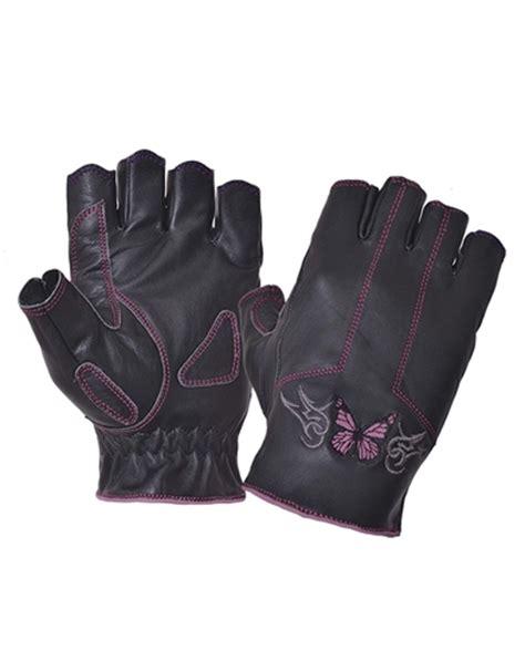 ladies hot pink leather gloves ladies fingerless leather motorcycle gloves pink tribal