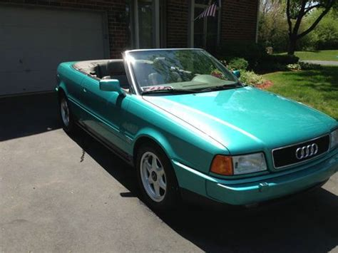 how to sell used cars 1997 audi cabriolet instrument cluster purchase used 1997 audi cabriolet convertible 2 8l low miles rare color must sell in