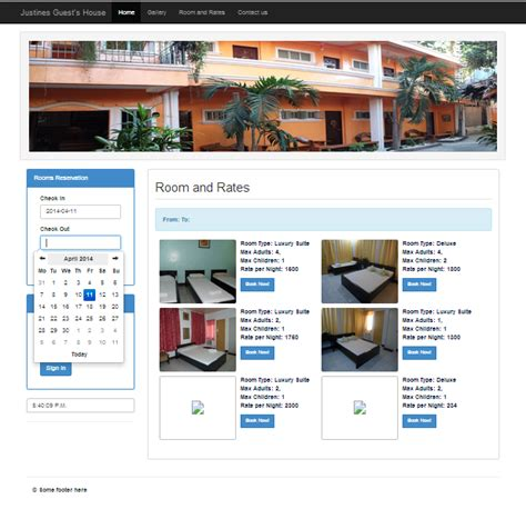 tutorial php reservation system justine s guest house online reservation system free